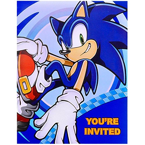 Party Destination 235607 Sonic the Hedgehog Invitations