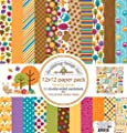 Doodlebug Friendly Forest 12x12 Paper Pack Fall Scrapbook Paper