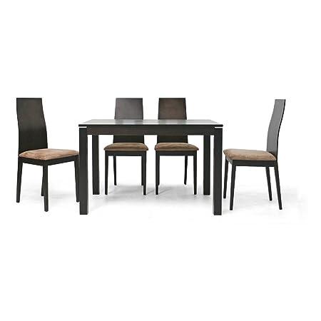 Calhoun Dark Brown 5-Piece Modern Dining Set