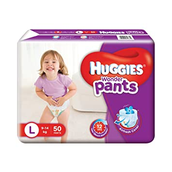 Image result for Huggies Wonder Pants Large Size Diapers (50 Count)