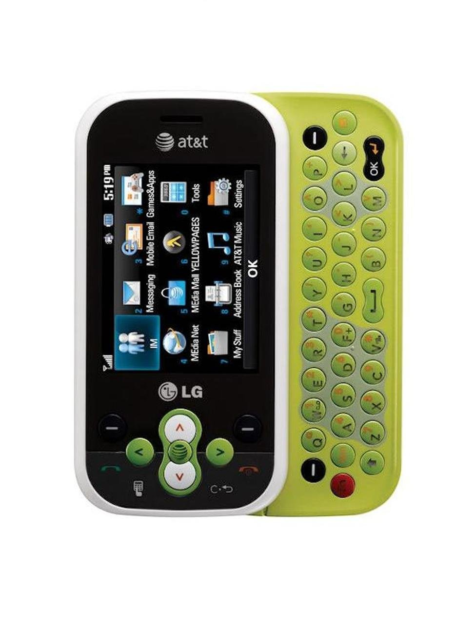 LG-GT365-Neon-Unlocked-Phone-with-2-MP-Camera-Bluetooth-MP3-and-QWERTY-Keyboard-US-Warranty-White-Green