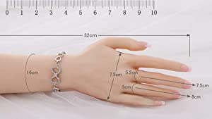 Minaky Silicone Hand Female Displays Model Mannequin Jewelery Ring Glove Bracelet Bangle Sketch Nail Display (a Pair, with Nail) (Color: with nail, Tamaño: a pair)