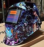 DMN Auto Darkening Solar Powered Welders Welding Helmet Mask With Grinding Function