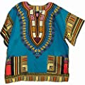 Unisex African Ethnic Bright Color Cotton Shirt Caftan DASHIKI TH1