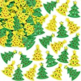 Christmas Tree Felt Stickers for Children to Decorate Cards Crafts and CollagePack of 60