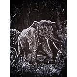 """WASO-Hobby - 4er Scrapy Kratzbilder Set - Afrikanische Tiermotive / Silber *Gro�*von """"WASO-Hobby"""""""