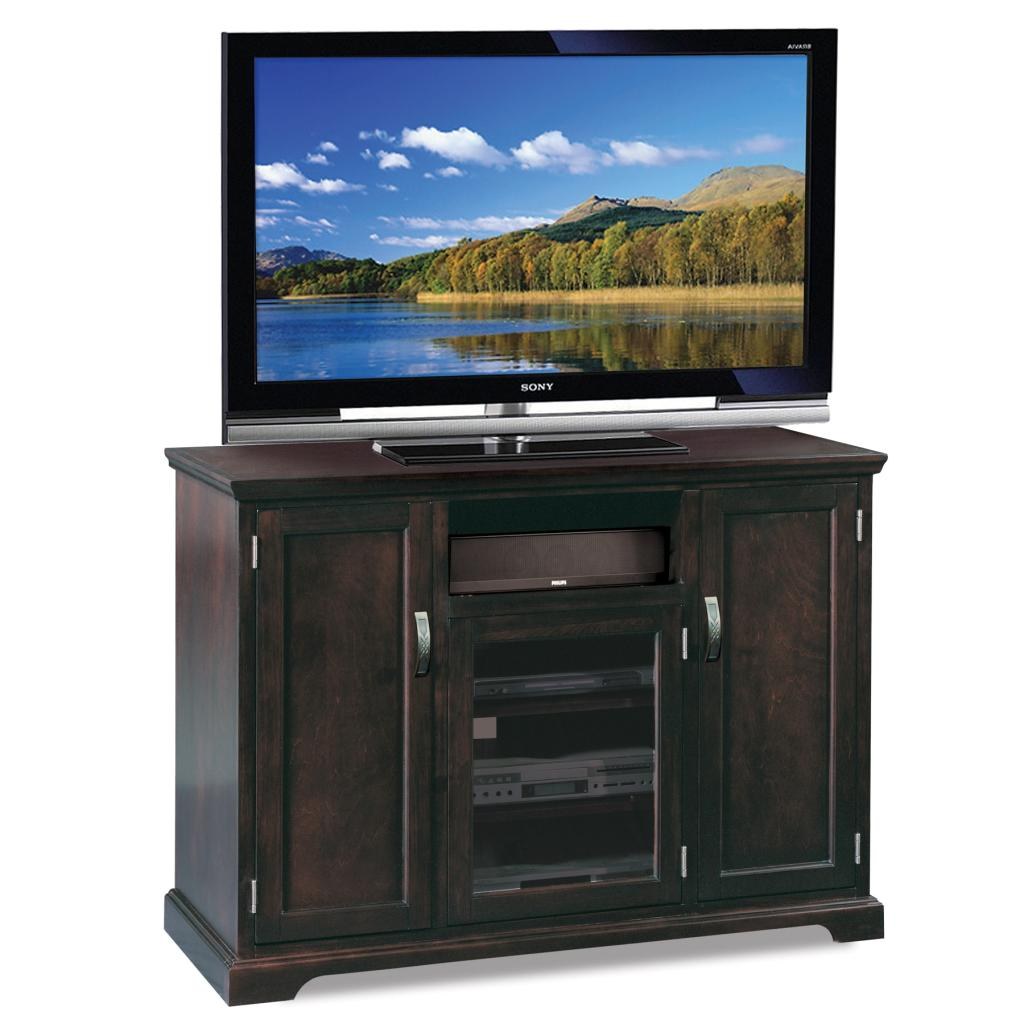 leick westwood cherry hardwood tv stand 60 inch. Black Bedroom Furniture Sets. Home Design Ideas