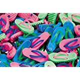 Pack of 24 - Rubber Mini Flip Flop Erasers - Great Party Loot Bag Fillers