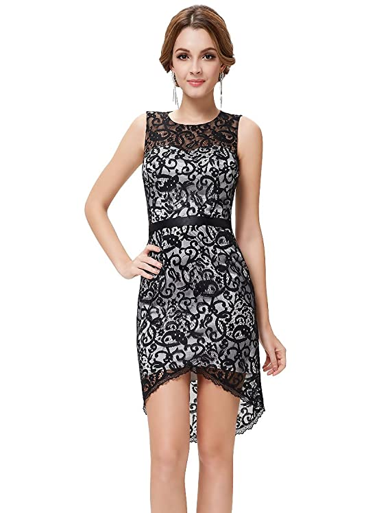 Ever Pretty Sleeveless Hi-Lo Lace Cocktail Party Dress 05119