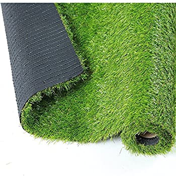 QYH Artificial Grass Rug Fake Grass Turf Indoor/Outdoor Green Lawn Carpet Synthetic Grass Mat for Pet Landscape Patio and Yard (3.3x 13.5)