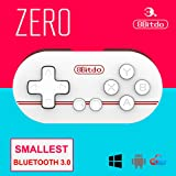 8Bitdo ZERO Smallest Wireless GamePad Mini Bluetooth Game Controller for Android/ iOS/ Windows/Mac OS (Red) (Color: Red)