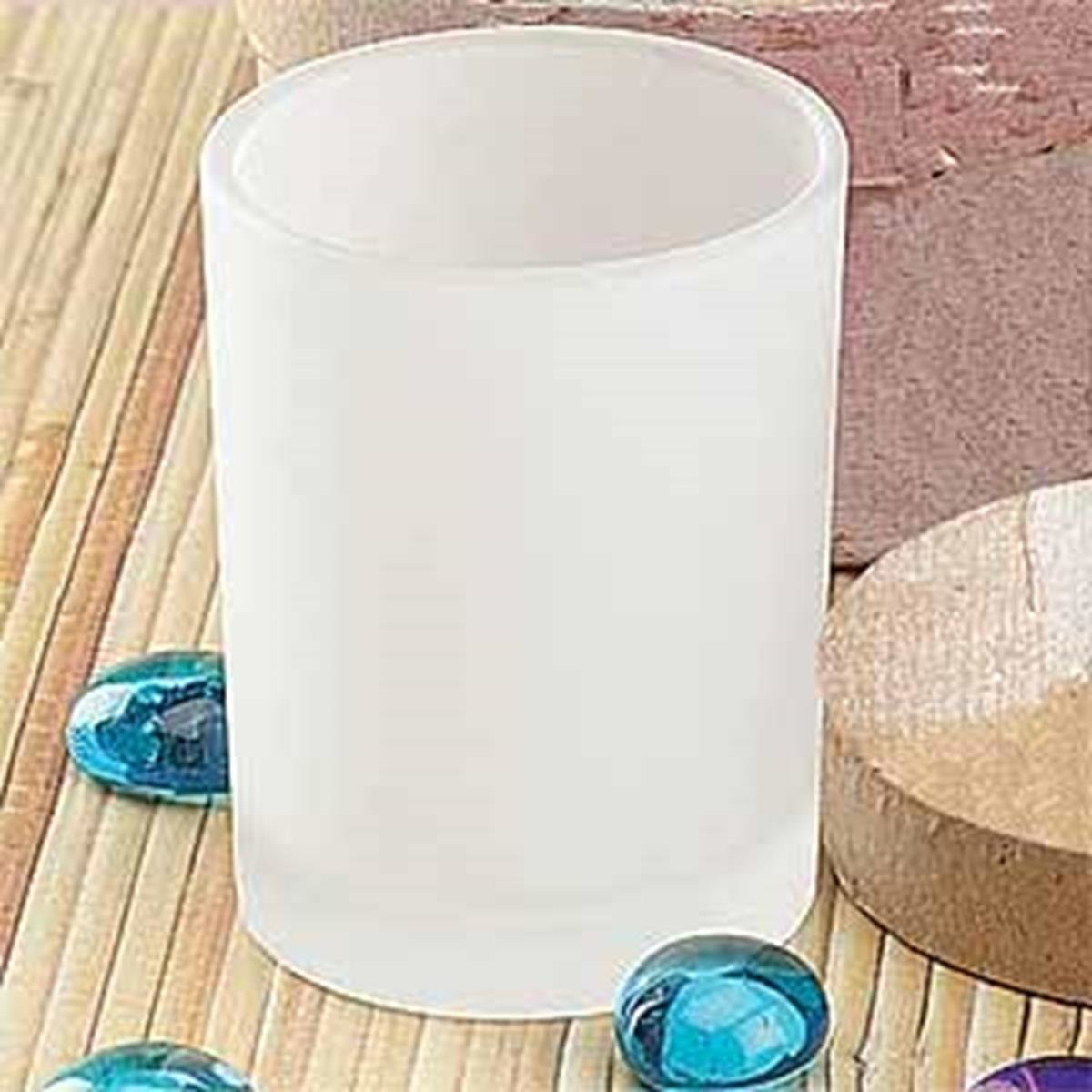 StealStreet SS-A-33862 Frosted Tube Candle Holder with Votive, Set of 12