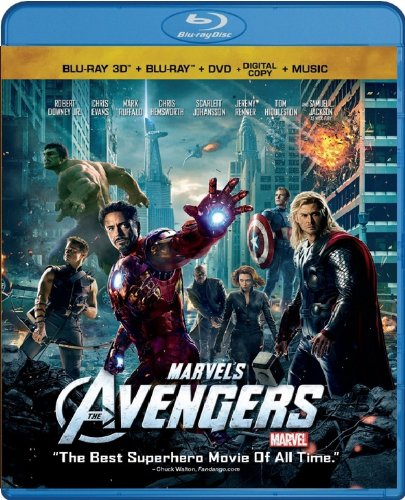 Cover art for  Marvel's The Avengers (Four-Disc Combo: Blu-ray 3D/Blu-ray/DVD + Digital Copy + Digital Music Download)