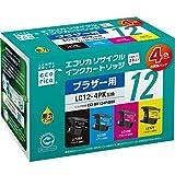 エコリカ リサイクルインクカートリッジ BROTHER 4色パック LC124PK ECI-BR124P/BOX