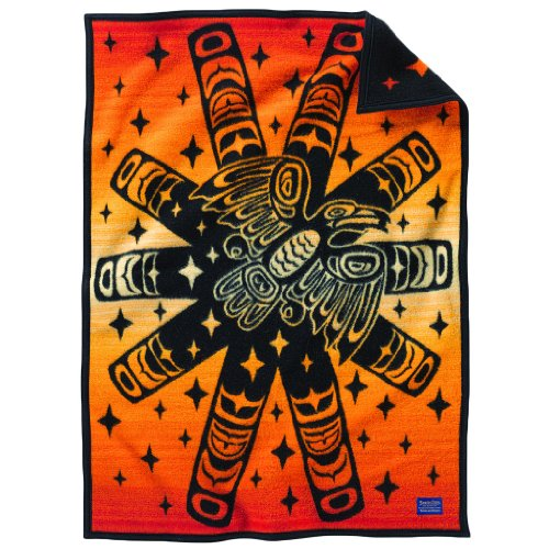 Pendleton Raven Sunburst Crib Blanket - 1