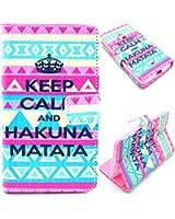 Voguecase® Etui Housse Flip Cuir Portefeuille Case Cover Pour Nokia Lumia 625(KEEP CALM HAKUNA)de Gratuit stylet l'écran aléatoire universelle