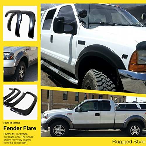 APS Reinforced ABS Fender Flares Rugged 4Pcs For 88-98 Chevy/GMC 1500 C/K (Fender Flares For A 98 Chevy compare prices)