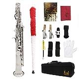 ammoon Soprano Saxophone SAX Bb Brass Lacquered Body and Keys