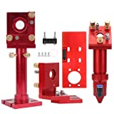 Garosa Laser Engraving Machine Red Oxide Film Aluminum CO2 Laser Head Set Laser Head Mirror Frame Set 20mm Lens Diameter -Two Laser Head Focusing Lengths Available(50.8/101.6mm) (Tamaño: 50.8/101.6mm)