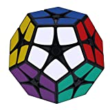 Dreampark 2x2 Megaminx Speed Cube Puzzle - Easier Than Gigaminx and Teraminx Magic Cube for Kids (Color: Black)