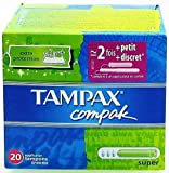 TAMPAX COMPAK 20 SUPER TAMPONS - 20 PCS
