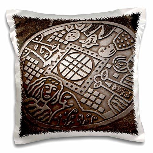 Danita Delimont - Seattle - USA, Washington, Seattle, Manhole cover - US48 JME0537 - John and Lisa Merrill - 16x16 inch Pillow Case (pc_147927_1)