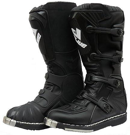 Protectwear cS-aLIUE 47 crossstiefel, bottes de course en cuir avec kunsstoffschnallen