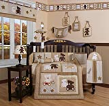 617xarteAUL. SL160  Boutique Baby Teddy Bear 13PCS CRIB BEDDING SET By GEENNY Designs