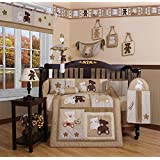 Boutique Baby Teddy Bear 13PCS CRIB BEDDING SET By GEENNY Designs ~ GEENNY