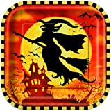 8 quadratische Halloween Teller
