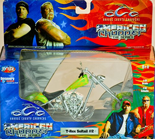 2004 - RC2 Brands / ERTL / Joy Ride - Orange County Choppers - American Chopper The Series - T-Rex Softail #2 - 1:18 Scale - Die Cast Metal - 1of 9 in Series - New - MIB - Limited Edition - Collectible (1 6 Scale Chopper compare prices)