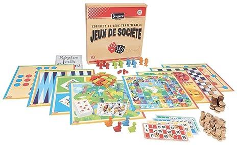 JEUJURA - 8128 - Coffret de Jeu de Société Traditionnel - Bois