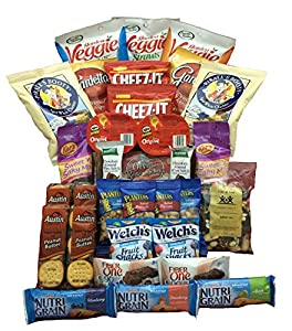 Healthy Snacks for Adults Individually Wrapped - College Students or Military 32 Count Bundle