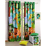 Jungle Animals Curtains - Set of 2 Curtain Panels for a Baby Nursery or Toddler or Kids Bedroom - 121 cm x 152...