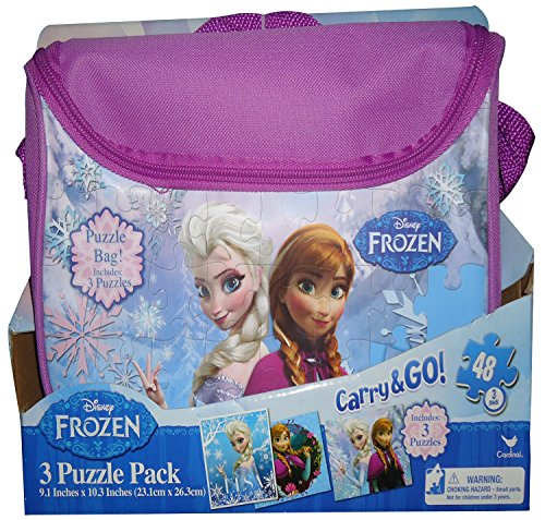 Frozen Carry and Go 3 Fashion Bag Puzzle (48-Piece) Styles Will Vary - 1