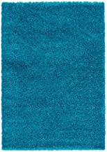 Lalee 347250738 Tapis shaggy Turquoise, Polyester, turquoise, 120 x 170 cm
