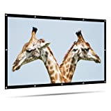 LATIT Projector Screen, Portable Projection Screen, HD Movie Screen,Indoor Outdoor Foldable No Crease Wrinkle Free Screens, for Home Theater, Diagonal 16:9, 100 inches (Tamaño: 100 Inch)