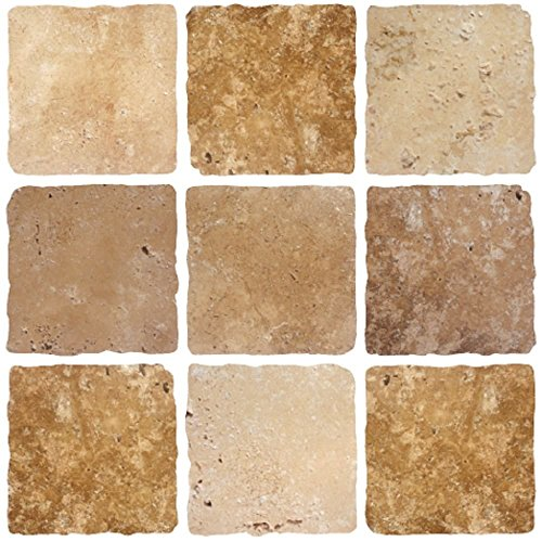 pack-of-10-stone-brown-cream-mosaic-tile-transfers-stickers-peel-and-stick-transform-your-bathroom-o