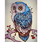 Full Diamond Embroidery Animal Owl 5D Diamond Painting Cross Stitch 3D Diamond Mosaic Needlework Crafts Christmas Gift (Tamaño: 16x24CM)