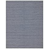 Safavieh Boston Collection BOS685D Handmade Area Rug, 8-Feet by 10-Feet, Navy Cotton