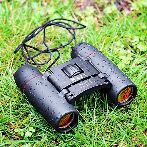 Cymas Mini Binoculars Folding Telescope with Night Vision for outdoor travelling sightseeing hunting Camping Golf Finishing etc(Wide Angle,Vision 8x21 Optical)