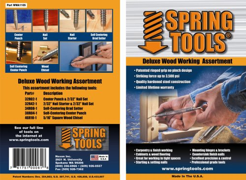 SpringTools WWA1105  5-Piece Deluxe Woodworking Set (Spring Tools compare prices)