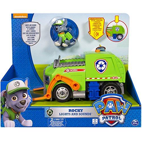 Paw Patrol 6027166 - Rocky e Il Suo Veicolo, con Luci e Suoni
