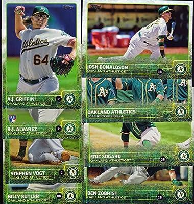 Oakland Athletics 2015 Topps MLB Baseball Regular Issue Complete Mint 23 Card Team Set with Scott Kazmir, Sonny Gray Plus