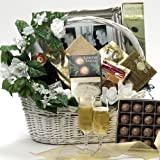Best Wishes To You Wedding Gourmet Food Gift Basket - Large (Candy Option)