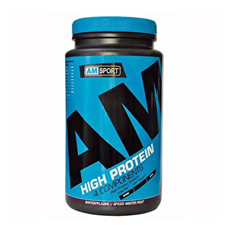 High Protein Shake - AMSport - Winterpflaume 600g Dose