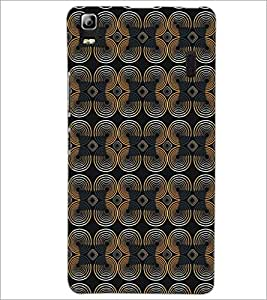 PrintDhaba Pattern D-5222 Back Case Cover for LENOVO A7000 TURBO (Multi-Coloured)