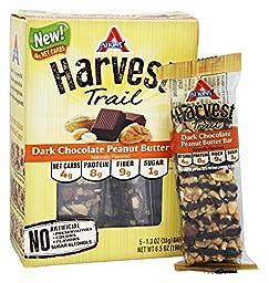Atkins Harvest Trail Bars, Dark Chocolate Peanut Butter, 5 Bars