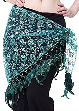 Belly Dance Hip Scarf , Fringe Waist chain belt, Belly dance costumes