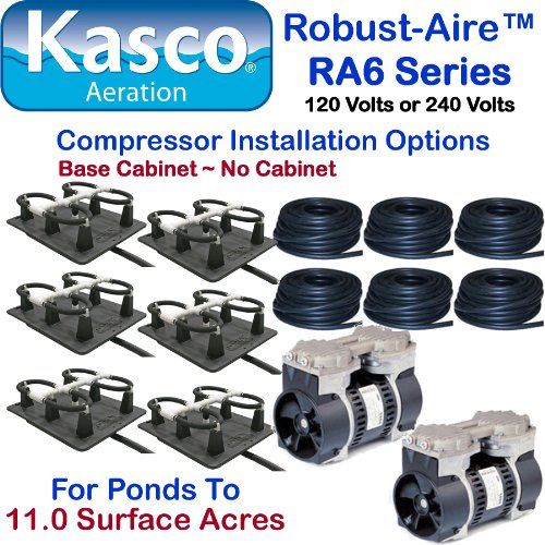 Kasco Marine Robust-Aire Aquatic Aeration System RAH6NC - For Ponds to 11.0 Surface Acres, 240 Volts, No Cabinet Included